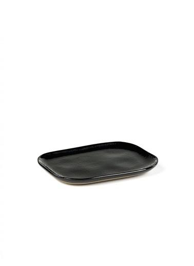 Serax Merci Siyah Dikdörtgen Tabak 14,5X10,5Cm Siyah